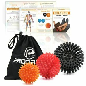 Spiky Massage Balls Set Exercise For Deep Tissue Massage Physical Therapy 3pcs