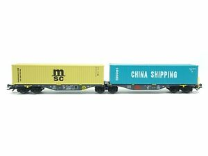 Güterwagen Containertragwagen Ermewa, Trix H0 24803 neu, OVP