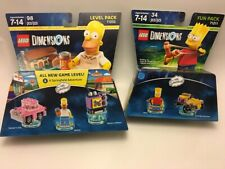 LEGO Dimensions Lot Homer & Bart Level Fun Pack  Set Minifigures 71202 71211 New