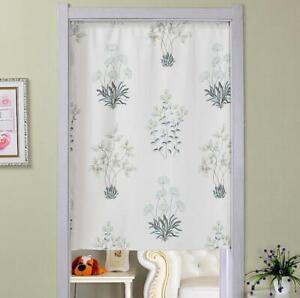 Flower Printed Curtain Cafe Drape Half Window Curtain Kitchen Bathroom Drapes