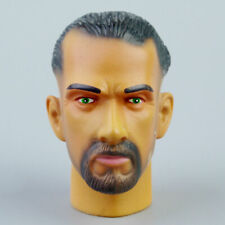 """1/6 Middle-aged Male Head Carving With Neck Model Fit 12"""" Action Figure Body Toy"""