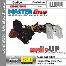 CONNETTORE ISO BLUETOOTH INTERFACCIA PER NISSAN QASHQAI 2007 IN POI MASTERLINE