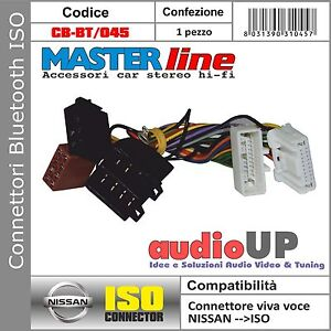 CONNETTORE ISO BLUETOOTH INTERFACCIA PER NISSAN MICRA 2011 IN POI. MASTERLINE