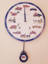 "NEW Timeworks ""Tinplate Toys"" Pendulum Wall ClockPendulum swings back and forth"
