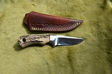 "D2 HANDMADE 7"" HUNTING-SKINNING-BEAUTIFUL MIRROR POLISH BLADE BUSH CRAFT KNIFE"