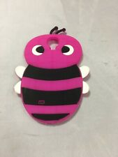 Samsung Galaxy S4 S Iv Rubber Silicone Skin Soft Gel Case Phone Cover Pink Bee