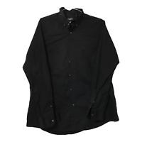 Chaps Mens XXL Button Down Long Sleeve Casual Dress Shirt Black Stretch Shirt