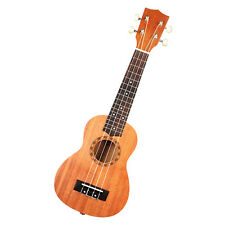 "Soprano 21"" Classic Ukulele 12 brass frets Musical Instrument Hawaiian Brown US"