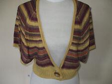 Women's Striped Viscose Boleros Shrugs Jumpers & Cardigans