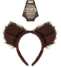 Bear Ears Headband - Deluxe Fancy Dress Costume Outfit Party Goldilocks Animal