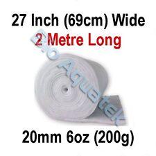 2 Metre / 2m Dacron Aquarium Pond Filter Media Floss Wool Wadding - 20mm / 6oz