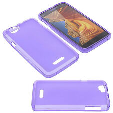 Case for Wiko Rainbow 4G Cell Phone Pocket Cases TPU Rubber Purple