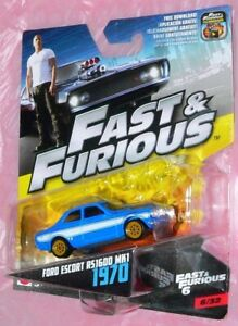 1970 FORD ESCORT RS1600 MK1 #6/32 FAST & FURIOUS 6 DIECAST SCALE 1/55 NEW