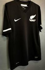 NIKE MEN'S FC NEW ZEALAND 2010/2012 BLACK SOCCER FOOTBALL SHIRT JERSEY SIZE S