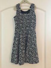 Un Deux Trois Black & White Sleeveless  Dress - Girls 12 - EUC
