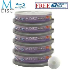 50 Pack Smartbuy M-Disc BD-R 25GB 4X HD 1000 Year Permanent Recordable Disc