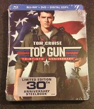 TOP GUN Blu-Ray SteelBook 30th Anniversary Ltd Ed Tom Cruise + DVD, Digital Copy