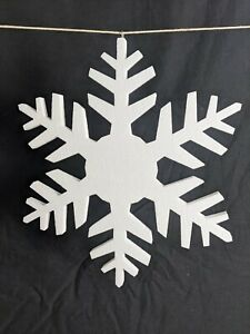 10 Polystyrene Snowflakes - 30CM tall X 2CM deep - Extra High Density Material