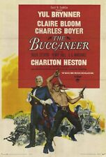 THE BUCCANEER Movie POSTER 27x40 Yul Brynner Charlton Heston Claire Bloom Inger