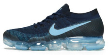 Nike Air Vapormax Flynit College Marine Navy Ice Light Blue Mens Shoes US10