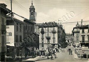 Cartolina di Monza, Ponte dei Leoni - 1952