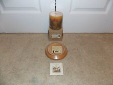 "* Longaberger * WoodCrafts (4"" Candle Base) + Inclusion Candle (Sweetheart Rose)"