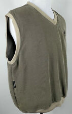 ASHWORTH Golf WEATHER SYSTEMS Men's V-Neck Pullover Vest Coat Size L Beige Tan