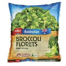 Coles Australian Snap-Frozen Brocolli Florets Vegetables Prepacked 500g