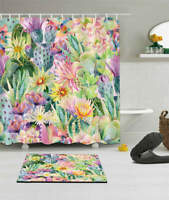 Garden Of Flowers Waterproof Bath Polyester Shower Curtain Liner Water Resistant