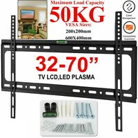 TV WALL BRACKET MOUNT SLIM FIXED FOR 32 40 45 50 55 60 65 70 INCH LED LCD PLASMA