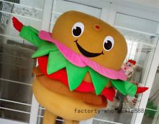 Halloween Hamburger Mascot Costumes suits Dining advertising Party Adults Size