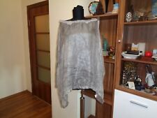AVIU AWESOME SILK SHEER SEE THROUGH TIE-DYED TAUPE OVERSIZED BLOUSE CAPE-IT 40