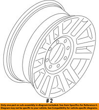 FORD OEM 17-18 F-350 Super Duty-Wheel-Alloy Aluminum HC3Z1007C