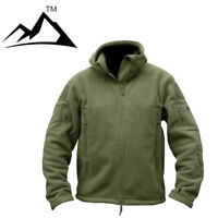 Hojutosga Mens Military Fleece Jackets Motorcycle Coat Multi-Pocket Army Outwear