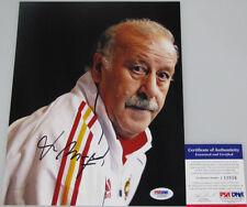 VINCENTE DEL BOSQUE Spain Hand Signed 8'x10' Photo + PSA DNA COA J10936