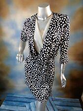 NWT $425 DVF Diane Von Furstenberg Rachel Print Georgette Black GGT Dress Sz6 S