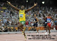 USAIN BOLT INSPIRATIONAL / MOTIVATIONAL QUOTE POSTER / PRINT / PICTURE(2)