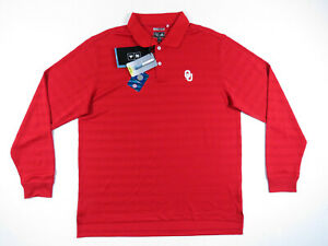 Ohio State Buckeyes Adidas Climacool Long Sleeve Polo Pullover Shirt NCAA M NWT
