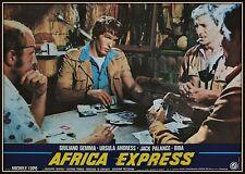 fotobusta  AFRICA EXPRESS GIULIANO GEMMA URSULA ANDRESS JACK PALANCE BIBA