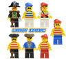Lego Pirate Minifigures - Pirates 1 vintage minifigs - red beard FREE POST