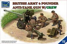 1/35 British Army 6 Pounder Anti-Tank Gun w/Crew ~ Riich 35042