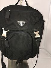 Authentic Prada Milano Black Nylon Backpack Medium Pre Owned