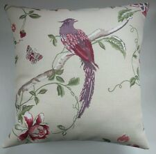 """Shabby Chic Cushion Cover in Laura Ashley Summer Palace Cranberry 16"""""""