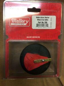 Mallory #335 NEW shutter wheel rotor, Unilite 37 & 38 Series 8 cyl. distributors