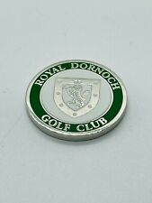Royal Dornoch Golf Club UK Green Members Metal Golf Ball Marker Coin Rare Mint