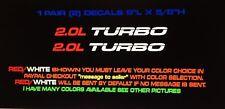 2.0L Turbo Fits Chevy,Ford,Audi,VW,Honda,Jeep,Kia,Buick, Mitsubishi, Hood Decals