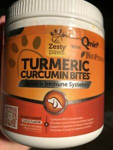 Zesty Paws Turmeric Curcumin for Dogs with 95 Curcuminoids Hip Joint Digestive