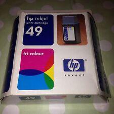 ORIGINAL HP 49 Tri Colour Inkjet Print Cartridge Printer Deskjet Officejet Etc