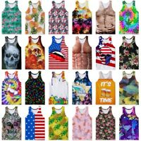 Summer Men's Tank Tops Vest Casual 3D Printed Graphics Tees Sleeveless T-Shirts