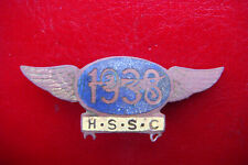 RARE 1938 HARRINGAY SPEEDWAY SUPPORTERS CLUB ENAMEL WINGS BADGE MADE BY CAXON